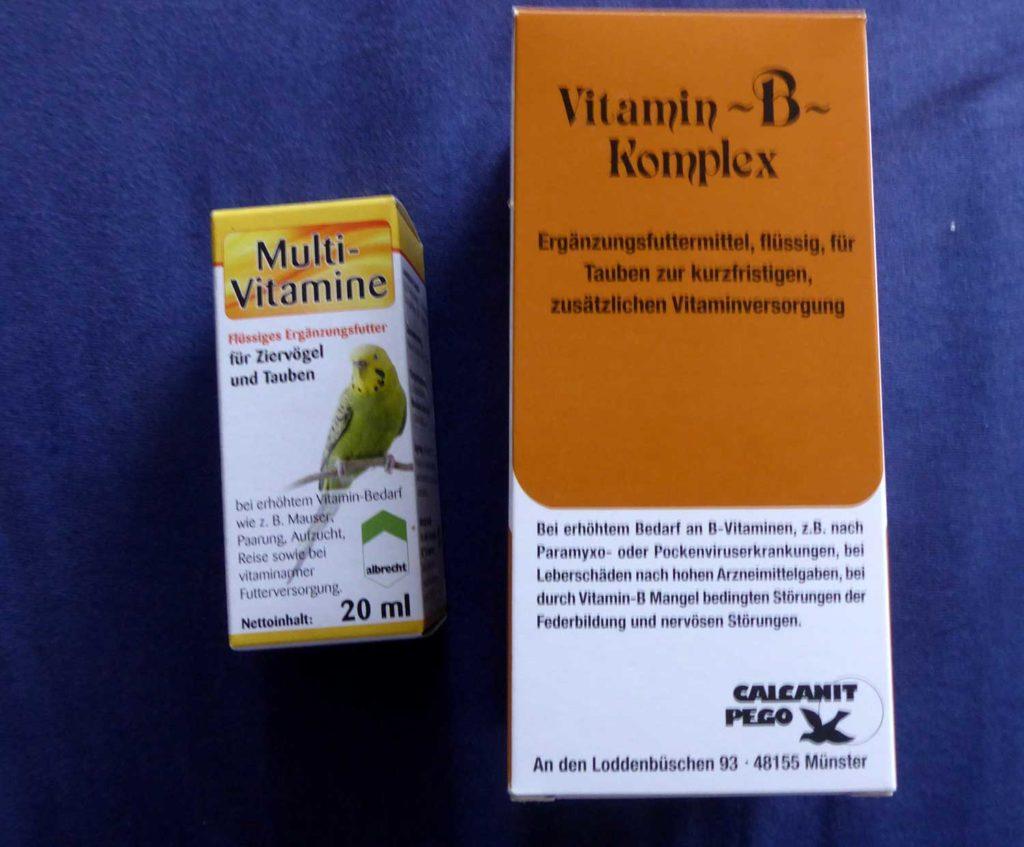 Multi-Vitamine und Vitamin-B für kranke Tauben